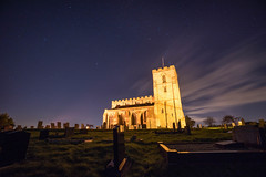 Starry Breedon (ajc--photography) Tags: longexposure nightphotography church grass night clouds zeiss stars evening village leicestershire hill wideangle graves illuminated haunted creepy gravestone starry priory hilltop floodlights carlzeiss cloudmovement breedononthehill breedononthehillchurch sonyalphaa7ii sonya7ii sonyvariotfe1635mmf4