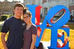 LOVE (radargeek) Tags: portrait art love college oklahoma statue campus glasses couple norman ou ok