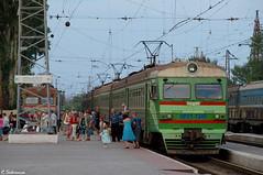 UZ ER2T-7245, Mariupol, 2010/07/10. (lg-trains) Tags: trains ukraine ukrainian railways trainspotting uz   2