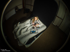 Sloth (trevager) Tags: portrait girl bed model lazy scc sevendeadlysins ledlighting modelbecca
