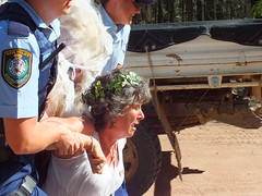 Bronwyn Plarre from Melbourne is removed by police (climateguardians) Tags: from by evans image jo push pilliaga