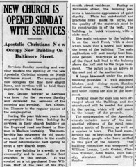 1924 - Apostolic Christian Church completed - Enquirer - 13 Nov 1924