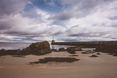 Lighthouse #2 (Juergen Jauth) Tags: ocean sky lighthouse water clouds scotland sand nikon rocks wasser himmel wolken leuchtturm schottland felsen strandbeach
