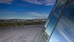 Top of The Pearl (ZeroOne) Tags: sky mountains landscape iceland cityscape landmark thepearl reykjavik perlan hdr mountainrange thepeal epl3