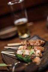 Yakitori (photopod) Tags: chicken beer japan kyoto yakitori wasabi skewers canon6d