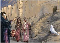 Mark 16 - Resurrection of Jesus - Scene 02 - Stone (Martin Young 42) Tags: easter mark dove tomb salome marymagdalene hurrying jesustomb marksgospel marythemotherofjamestheless mark1624