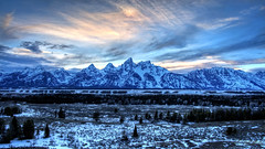 Tetons in Blue (RH Miller) Tags: usa snow landscape wyoming tetons reedmiller rhmiller