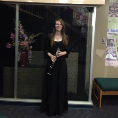 Me (Emily Marie Boyd) Tags: red music black aztec band instrument woodwind clarinet sandiegostateuniversity concertband emilymarieboyd