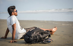 Lonely Beach (Diptta Bhattacharjee) Tags: travel portrait travelling beach alone lonely enjoying chittagong seabeach traveldiary coxsbazar