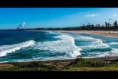 Beach Australia (eggwah123) Tags: ocean chimney sky beach 35mm waves australia nsw fujifilm fujinon lightroom waterfronts apsc fujix xtrans  lightroom5 x100s fujifilmx100s