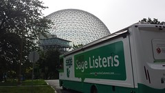 Sage Listens in Montreal (*~YY~*) Tags: mtl quebec montreal biosphere sage qc sagelistens