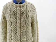 Cabled styled aran sweater (Mytwist) Tags: irish white france heritage classic wool fashion fetish vintage cozy sweater fisherman warm fuzzy cream ivory craft passion fishermans heavy oats honeycomb aran timeless authentic handcraft chunky crewneck vouge handknitted cabled aransweater handgestrickt aranjumper aranstyle famillewipff