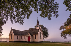 Autumn morning (lizcaldwell72) Tags: trees light newzealand sky church sunrise hawkesbay pukehouchurch