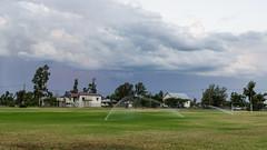 Yelarbon, Queensland (smjbk) Tags: storm clouds australia sprinkler queensland stormclouds yelarbon