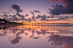 Saltburn Pier reflections. (paul downing) Tags: sunset reflections pier nikon northsea 12 filters hitech northyorkshire gnd saltburnbythesea pd1001 pauldowning d7200 pauldowningphotography
