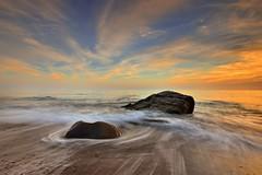 ~~  Silk waves Sunset (Shangfu Dai) Tags: sunset sea landscape nikon waves taiwan formosa   kenting  fangshan   afs1635mmf4 d800e
