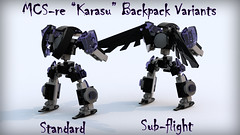 "MCS-re ""Karasu"" Back (phayze81) Tags: lego frame scifi mf sciencefiction mcs mecha mech moc ldd mfz mobileframe legorender mf0 mobileframezero mobilecore bluerender mobilecoresystem"