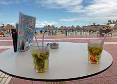 Mojitos in the Sun (edowds) Tags: ocean sea 2 vacation sun holiday ice beach island spring spain mint atlantic cocktail mojito tenerife april rum canary 2016