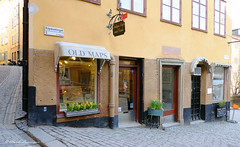 STOCKHOLM (claude.lacourarie) Tags: old streets yellow shop jaune sweden stockholm rues sude