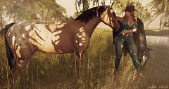 Style956 (Kayshla Aristocrat (Lushish Catz) ( Blogger)) Tags: horse photographer country blogger mina cowgirl uber hourglass unitedcolors slink kayshlaaristocrat hushskins kccouture
