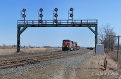 IC 2707 (Ramblings From The 4th Concession) Tags: freighttrains cnrail illinoiscentral dash944cw gelocomotives pariswest parisont cndundassub panasonicfz1000 ic2707