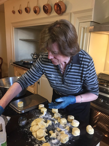 Imelda making tasty scones