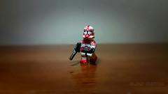 Lego Star Wars custom : Coruscant Shock Trooper (Aljan Custom) Tags: starwars lego custom coruscant shocktrooper
