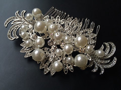 Wedding hair comb, Bridal hair comb, Barrette clip, Vintage brooch, Silver vintage style hair accessory (weddingvalle) Tags: flowers wedding party woman beautiful fashion hair pretty crystals handmade style jewelry pearls sparkle bridesmaids prom gift statement romantic brides accessories weddings etsy bridal comb rhinestones headpiece weddingvalle