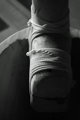 Lim (bailer) handle (David A's Photos) Tags: blackandwhite bw field handle blackwhite dof canoe string knots depth twine lim tying outrigger bailer karkar marshallese
