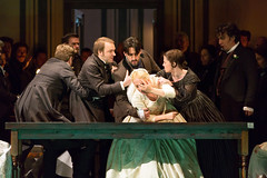 Taylor Stayton, Charles Castronovo, Diana Damrau, Rachael Lloyd, Ludovic Tézier in Katie Mitchell's Lucia di Lammermoor ©2016 ROH. Photograph by Stephen Cummiskey (Royal Opera House Covent Garden) Tags: music opera coventgarden royaloperahouse royalopera donizetti luciadilammermoor charlescastronovo dianadamrau taylorstayton rachaellloyd ludovictézier bykatiemitchell