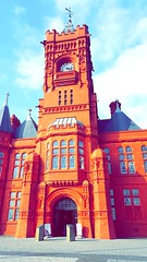 Cardiff pier head building #building #cardiff #pierhead #red (ffion alys) Tags: red building cardiff pierhead