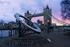 The Sundial Clock. London, UK. (Gene Krasko Photography) Tags: city uk sunset england urban london thames towerbridge cityscape unitedkingdom urbanexploration thamesriver londoncity jubileewalk sundialclock equatorialsundialclock equatorialclock