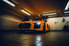 Solar Flare Audi R8 (Listers Group) Tags: listers automotive car vehicle event audi birmingham solihull stratford coventry nuneaton bmv honda skoda toyota jaguar landrover