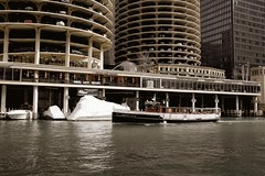 Generations (ancientlives) Tags: travel cruise usa chicago wednesday boats illinois spring fuji streetphotography april chicagoriver riverwalk 2016 23mm fujix100s