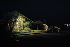 (patrickjoust) Tags: auto california ca light usa house color tree 120 film home car night analog america dark us focus automobile long exposure mechanical united release tripod north patrick rangefinder cable negative mercedesbenz vehicle after 6x9 medium format parked states manual northern joust 90mm humboldtcounty eureka estados f35 c41 unidos kodakportra160 autaut patrickjoust fujicagw690