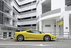 Challenge Stradale (FreeLunchPhotos) Tags: yellow singapore 360 ferrari giallo challenge stradale