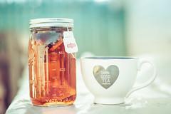 Damn good tea (Kilkennycat) Tags: canon tea 50mm14 icedtea masonjar jar teacup cuppa 500d suntea kilkennycat t1i ryanconners