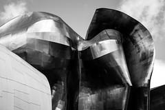 EMP Museum (vaneebs) Tags: seattle street travel blackandwhite bw white black monochrome architecture buildings washington human