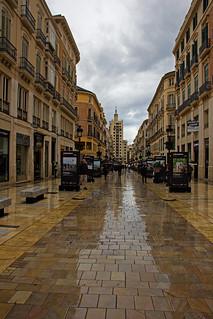 La calle Larios un día gris: #EXPLORE 94# (2016.04.23)
