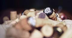 Bottles cracked open. (jakub.sulima) Tags: wood tree art bottle oak spain nikon wine cork stillife sparkling d3200 seguraviudas