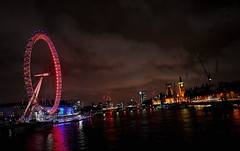 View of London (Marco.db.) Tags: light england cloud colour london eye night clouds lights nikon view pano londoneye bigben londra inghilterra tamigi longexposition tames d5100 nikond5100