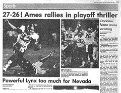 1986 AHS Football scanned newspaper article p027 dated October 30 1986 (ameshighschool) Tags: school sports newspaper football classmate classmates iowa scan highschool 1986 clipping highschoolreunion classreunion schoolmates schoolmate ahs athelete amesiowa ameshighschool ahsaa ahs1987 ameshighschoolalumniassociation ahs1986 ameshighclassof1986 ameshighclassof1987 1986ahs ahs1988 ameshighclassof1988 1987ahs 1988ahs