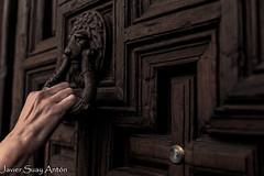 ShadowsOnMyHand (Javier Suay Anton) Tags: door wood espaa brown church puerta madera hand secret mano es secreto marron almagro castillalamancha aladaba
