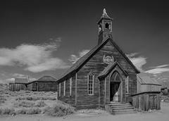 Methodist Church (1882) - Bodie, California ghost town (9/13/2009) (rbb32) Tags: blackwhite churches bodie