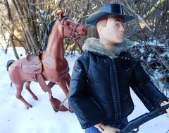 Coyote GI Joe (atjoe1972) Tags: horse snow vintage gijoe actionfigure cowboy marx 1970s custom seventies frontier hasbro oldwest knockoff johnnywest karlmay bestofthewest ljn samcobra elfontheshelf
