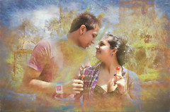 Lollipop Lovers (Artypixall) Tags: park woman man texture peru couple lima young lovers