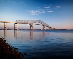 Key Bridge (seikoesquepayne) Tags: water outdoor olympus baltimore f18 cpl circularpolarizer keybridge 17mm ep5