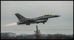 F-16 danois en exercice (Nightmar83) Tags: orange de f16 airforce avion chasse 84 danemark danois caritat postcombustion