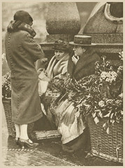 cut flowers are on sale as a sign of feminine custom (Simon_K) Tags: old 1920s urban streets london sepia lost image before days nostalgia photograph forgotten times roads yesterday scenes olden trades twenties howweusedtolive photogravure wonderfullondon stjohnadcock alarecherchedetempsperdu donaldmacleish