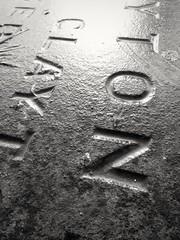 Clayton #effrawet #effrafc (uncoolbob) Tags: wet cemetery stone gravestone names camberwelloldcemetery effrafc effrawet